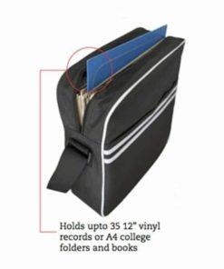 Retro Messenger Bag (Sort) (Transportkasser)